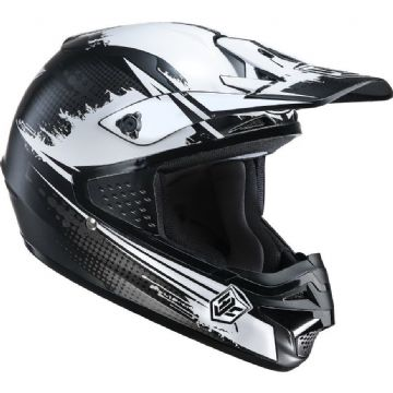 HJC CS-MX Zealot ACU Approved Motocross Helmet Black & White Large